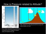 how is pressure related to altitude