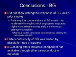 conclusions bg21