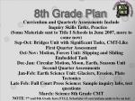 8th grade plan