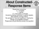 about constructed response items