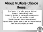 about multiple choice items
