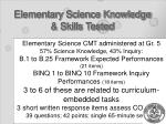 elementary science knowledge skills tested