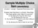 sample multiple choice item elementary