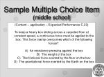 sample multiple choice item middle school