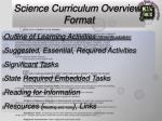 science curriculum overview format56