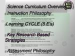 science curriculum overview