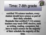 time 7 8th grade