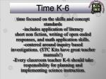 time k 6