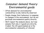 consumer demand theory environmental goods