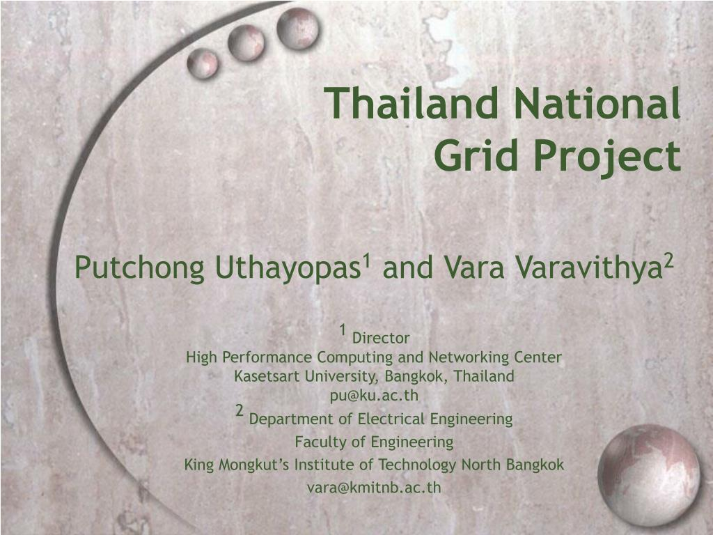 thailand national grid project l.