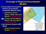 coverage of regional groundwater models