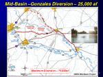 mid basin gonzales diversion 25 000 af