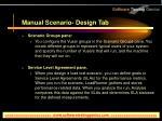 manual scenario design tab13