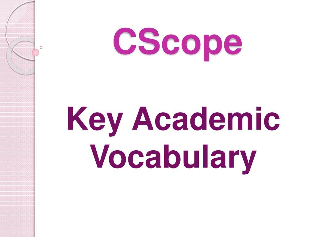 cscope l.