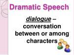 dramatic speech