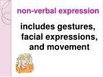 non verbal expression