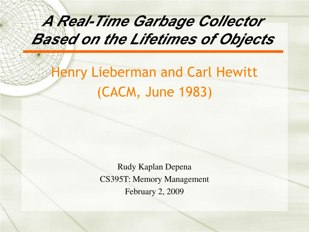 a real time garbage collector based on the lifetimes of objects l.