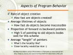 aspects of program behavior
