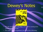 dewey s notes