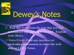 dewey s notes10