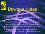dewey s notes9