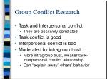group conflict research