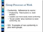 group processes at work