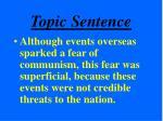 topic sentence21