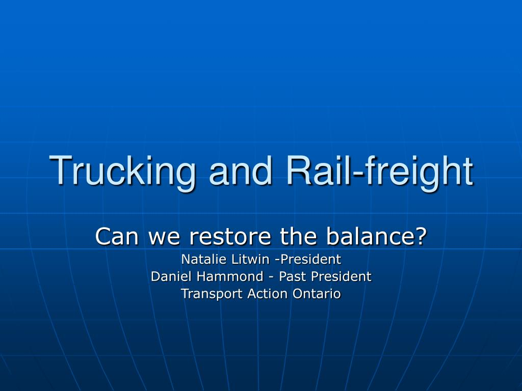 trucking and rail freight l.
