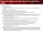 bobo doll experiment bandura ross and ross 1963