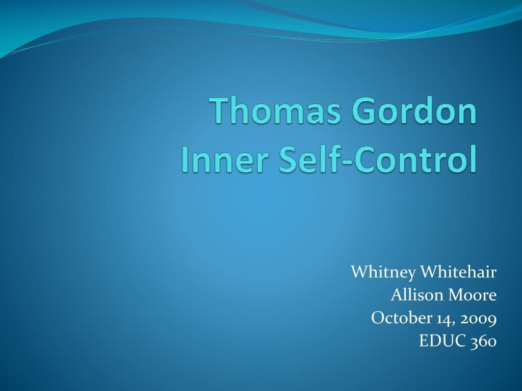 thomas gordon inner self control l.
