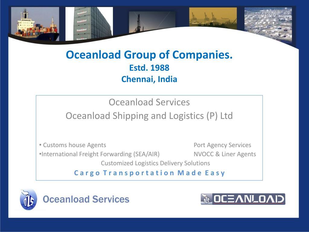 oceanload group of companies estd 1988 chennai india l.