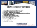 steamer agency services