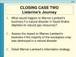 closing case two listerine s journey49