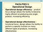 facilities 3 operational design