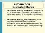 information 1 information sharing