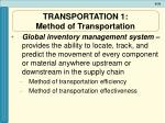 transportation 1 method of transportation
