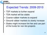 expected trends 2009 2010