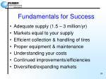 fundamentals for success