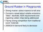 ground rubber in playgrounds