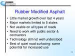 rubber modified asphalt