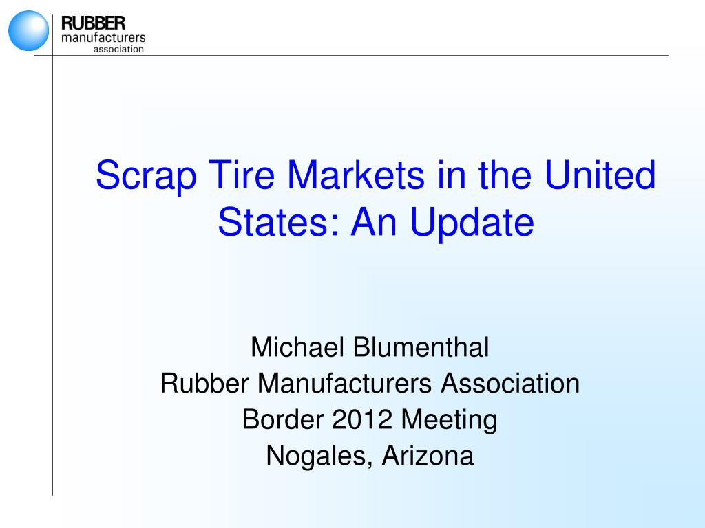 scrap tire markets in the united states an update l.
