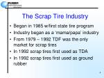 the scrap tire industry