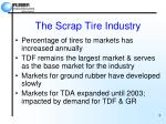 the scrap tire industry5