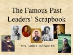 the famous past leaders scrapbook