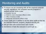 monitoring and audits