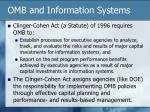 omb and information systems
