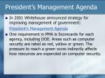 president s management agenda