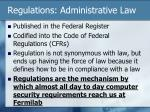 regulations administrative law