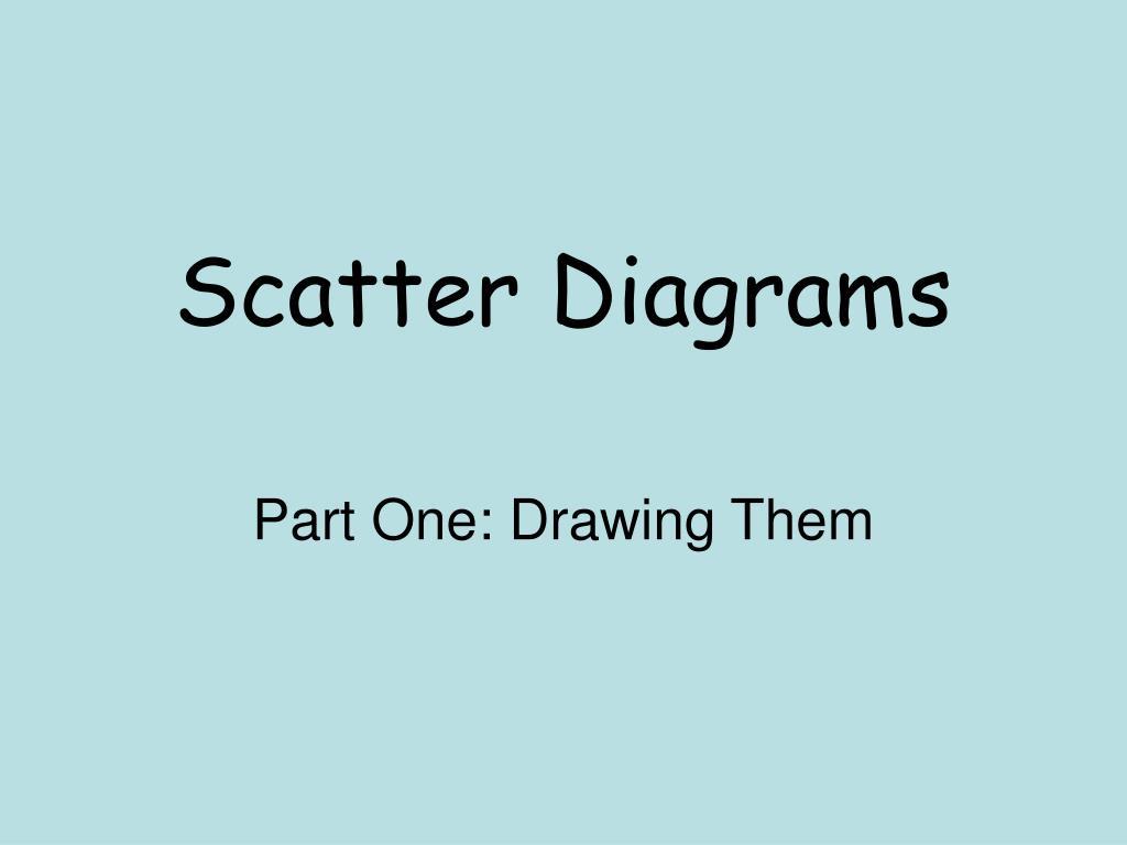 scatter diagrams l.